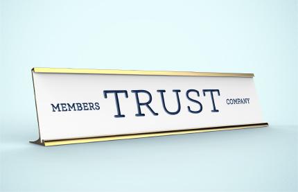 Members Trust Company Nameplate