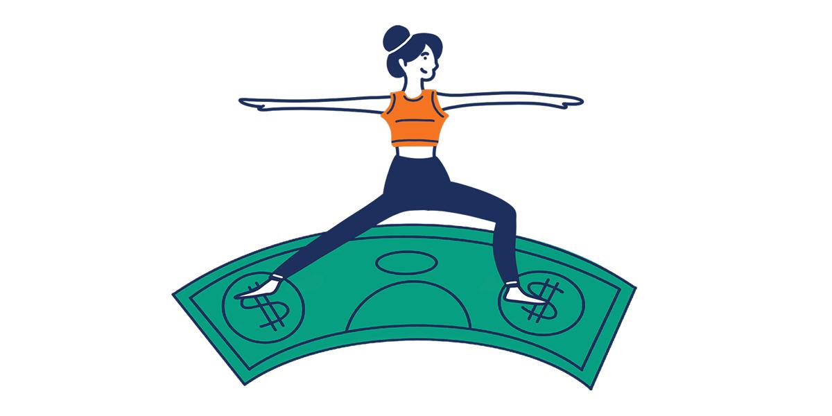 flex girl illustration